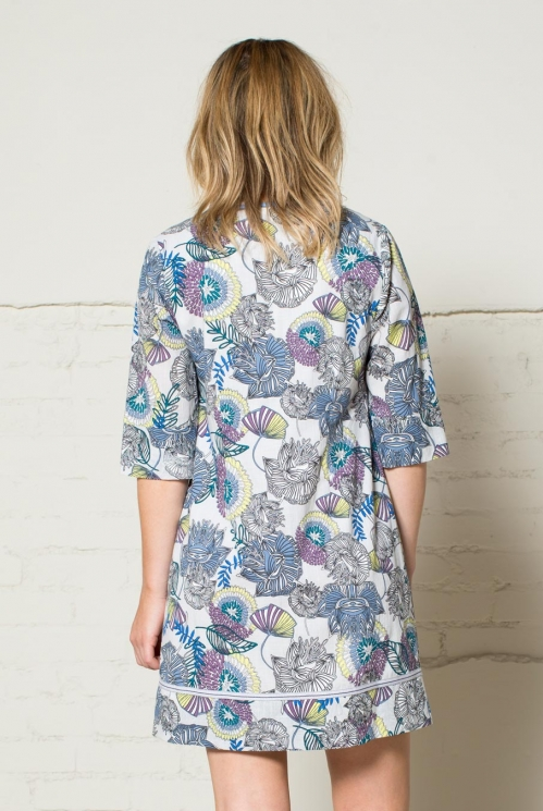 Grey Lotus Tunic Dress (back)