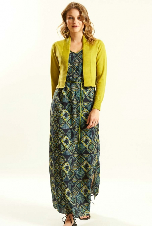 Split Side Maxi Dress in Crinkle Viscose xtra view of Slate