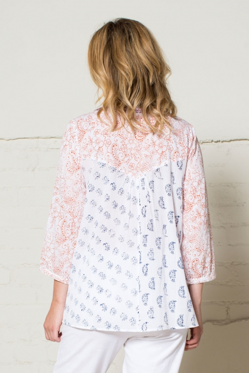 White Patchwork Tunic (back)