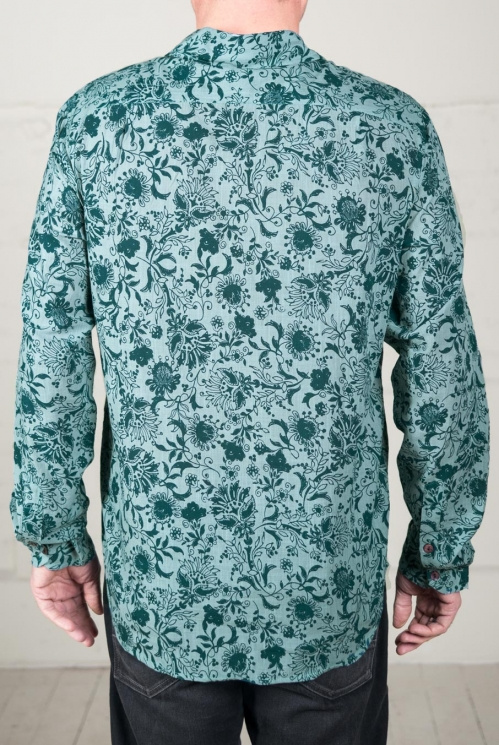 Duck Egg Long Sleeve Cotton Shirt (back)