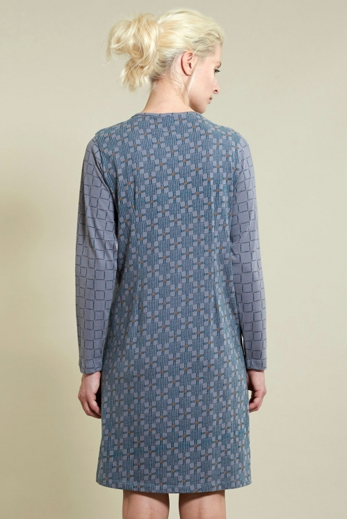 Printed Nightie in Silver - back view