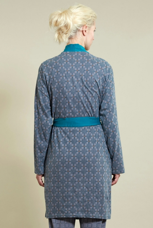 Silver Printed Dressing Gown (back)