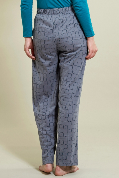 Tairu Pyjama Bottoms in Silver - back view