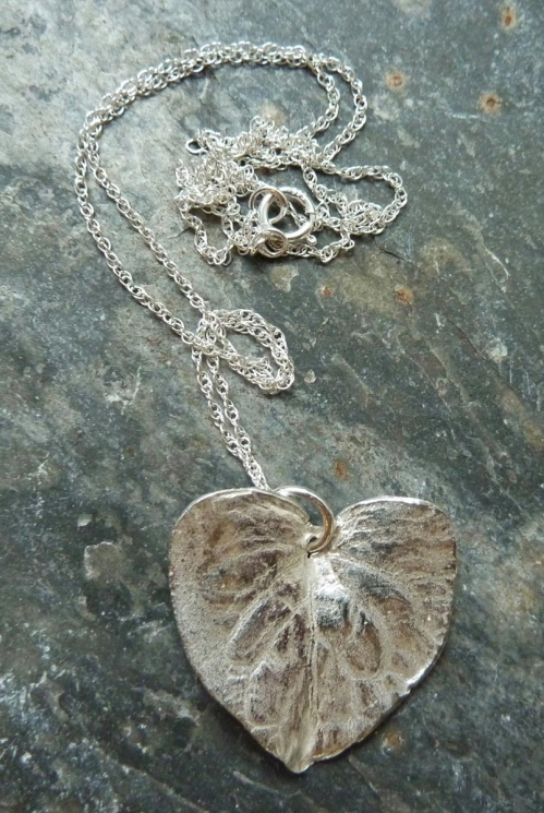 Silver Large Silver Heart Necklace
