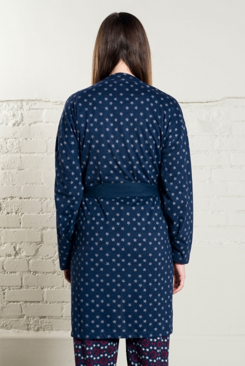 Indigo Twilight Dressing Gown (back)
