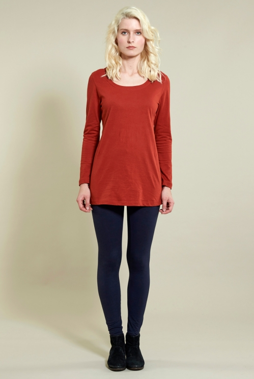 Leggings in Organic Cotton Jersey with Elastane xtra view of Navy