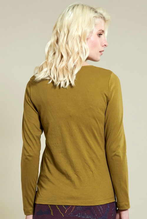 Ochre Twist Detail Top