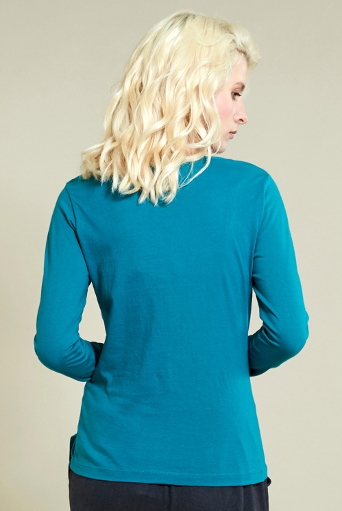 Winter Turquoise Twist Detail Top (back)