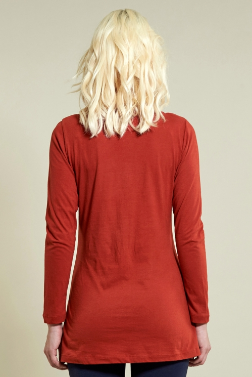 Long Layering Top in Sienna - back view