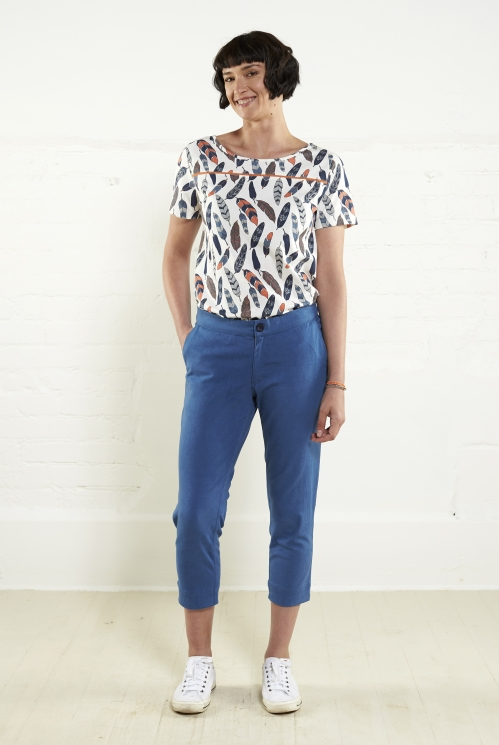 Denim Crop Trouser
