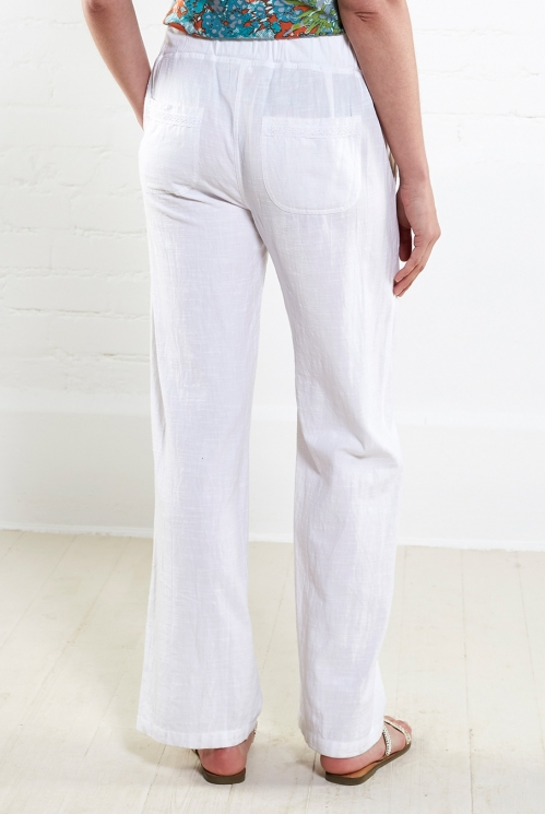 White Straight Leg Trouser