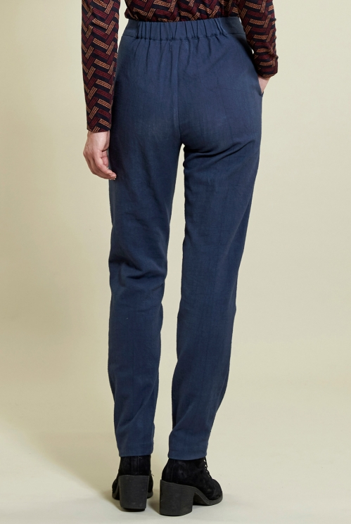 Navy Slim Leg Trouser (back)