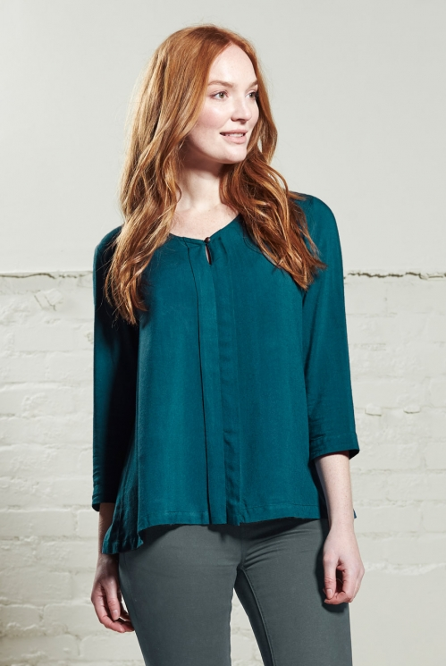 Petrol Plain Viscose Top