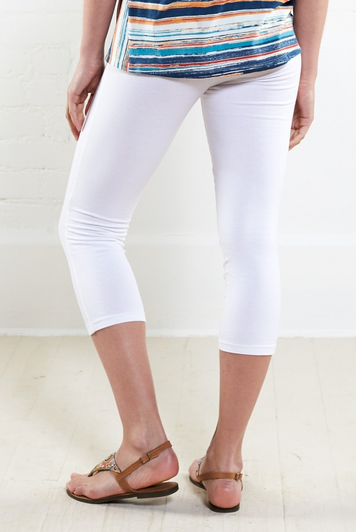 White Organic Crop Leggings
