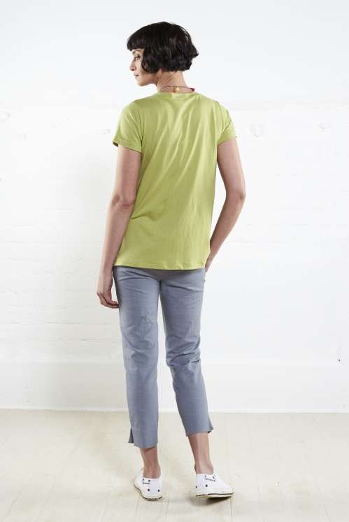 Apple V Neck T Shirt