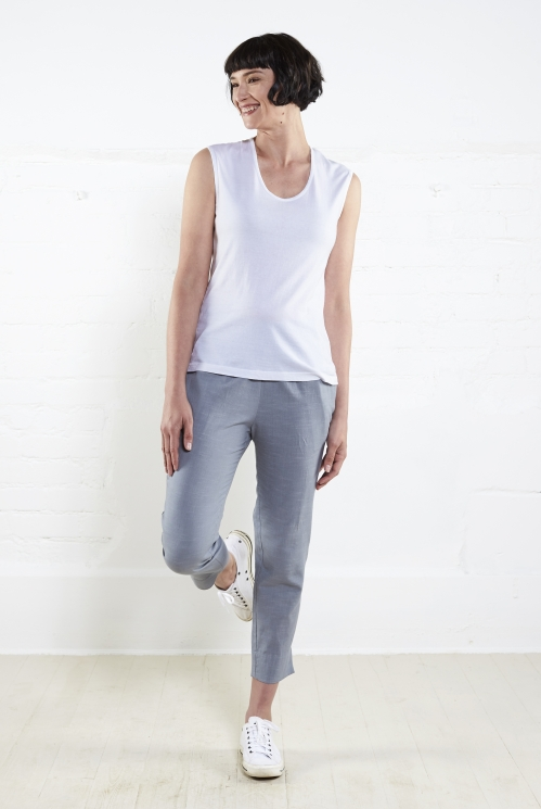 White Plain Vest Top