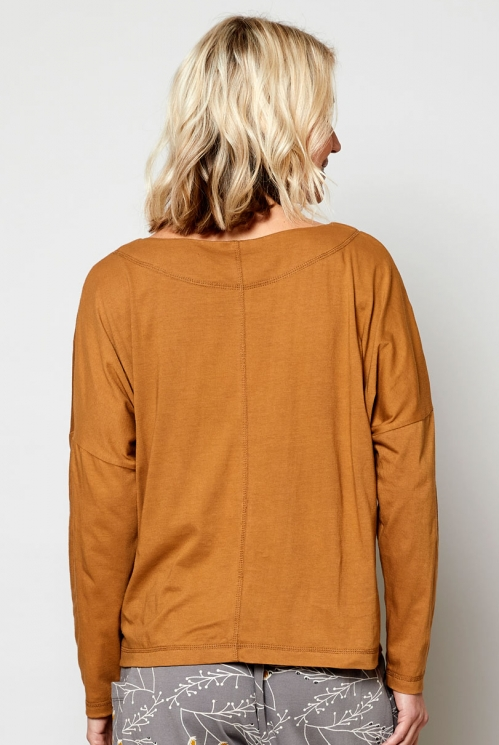 Oak Sustainable Fair Trade Relaxed Jersey Top