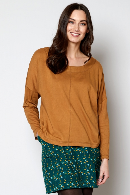 Sustainable Oak Relaxed Jersey Top