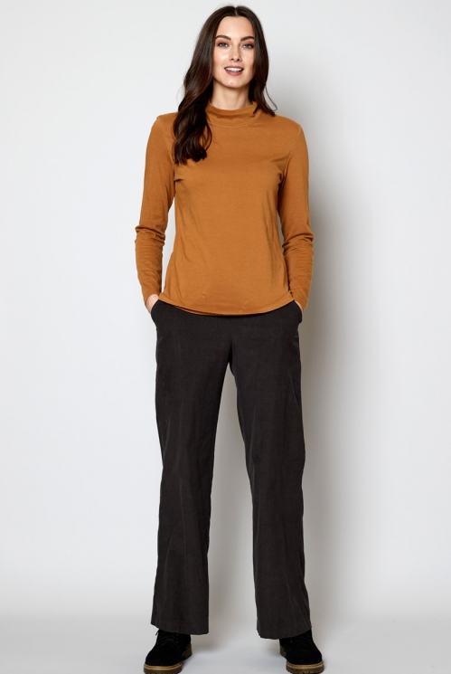 Oak Ethically Made Sustainable Turtle Neck Top