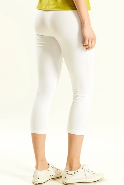Crop Legging in White - back view