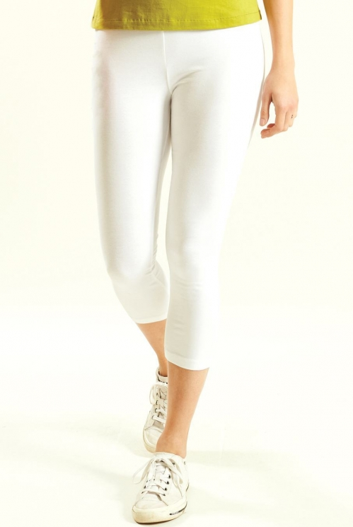 White Crop Legging