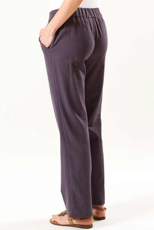 Straight Trouser in Slate - back view