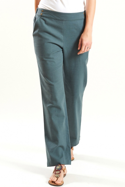 Verdigris Straight Trouser