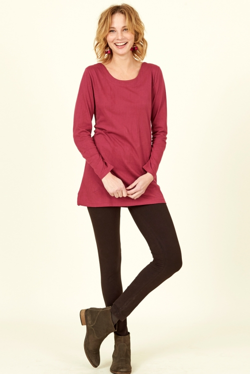 Ethically Made Chocolate Brown Organic Cotton Leggings