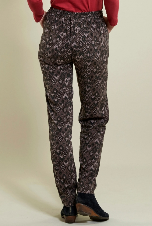 Prism Trouser in Fawn - back view