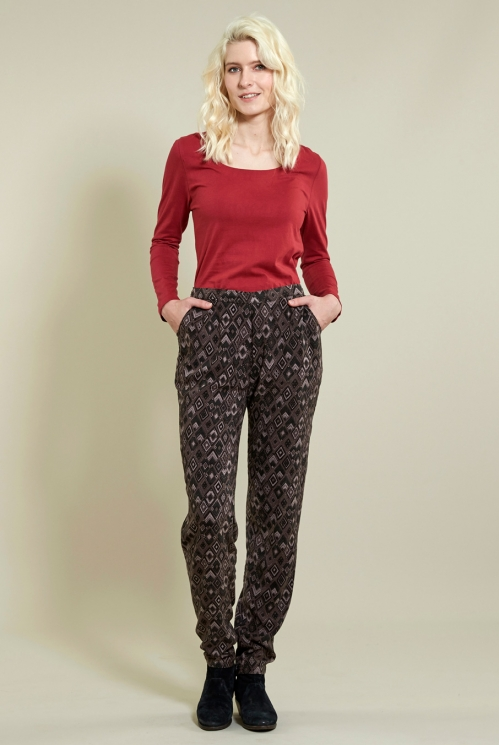 Prism Trouser in Woven Viscose xtra view of Fawn