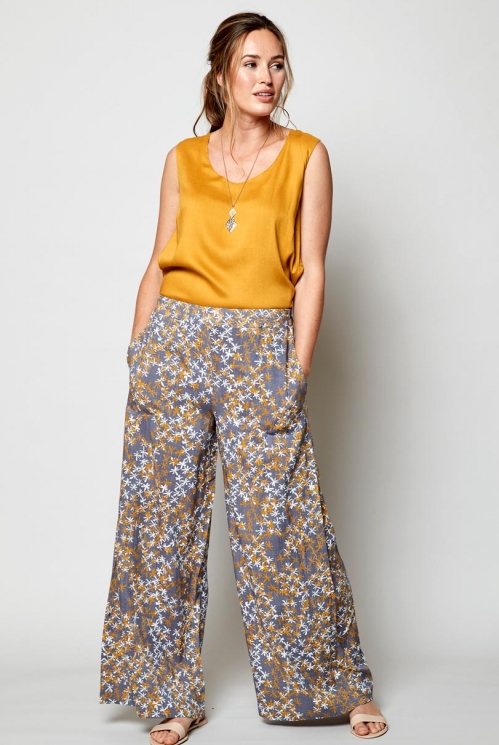 Aniseed Fair Trade Wide Leg Viscose Trousers