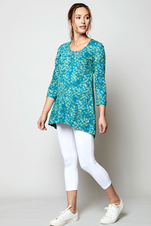 Lagoon Fair Trade Organic Cotton Scoop Hem Tunic