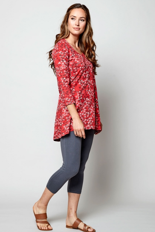 Pomegranate Sustainable Organic Cotton Scoop Hem Tunic