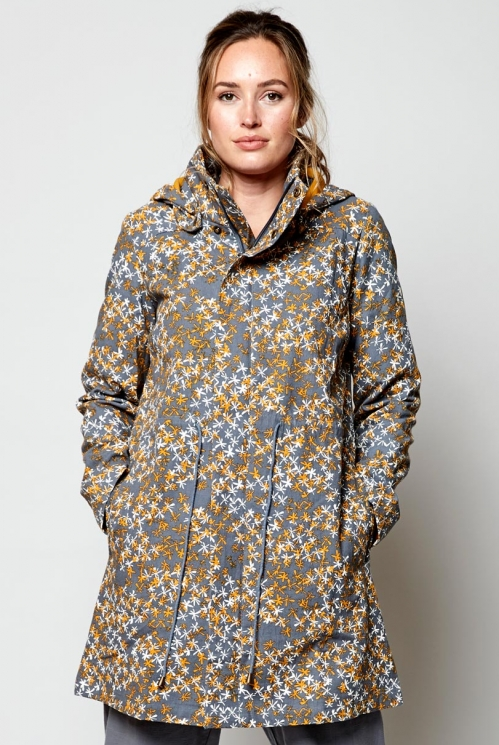 Aniseed Ethically Made Organic Cotton Printed Canvas Raincoat