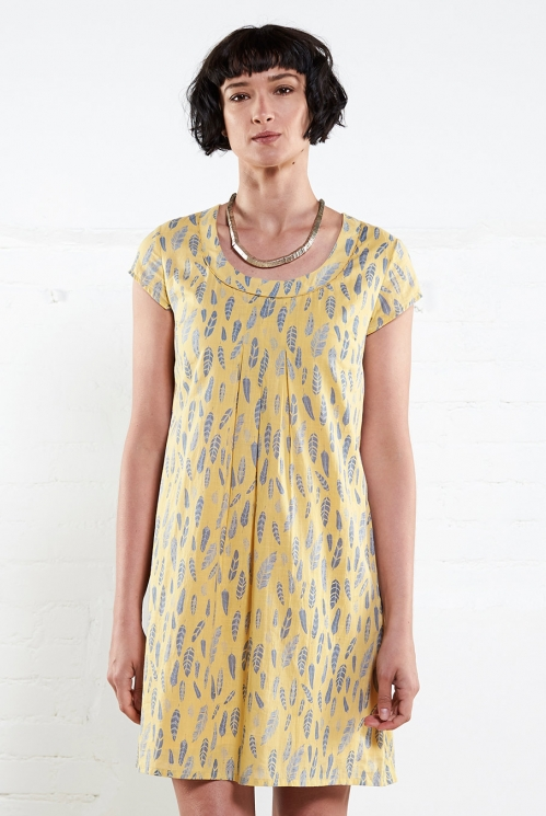 Sunflower Capsleeve Tunic Dress