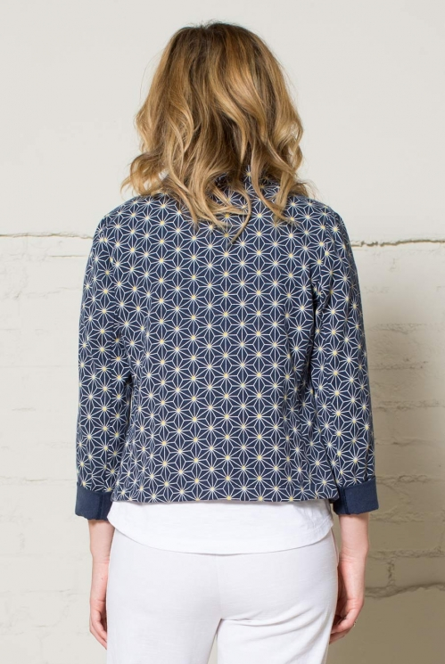 Navy Short Jacket (back)