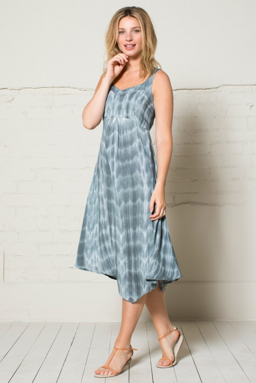 Grey Tie Dyed Dress