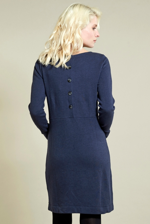 Cosy Tunic Dress in Denim - back view