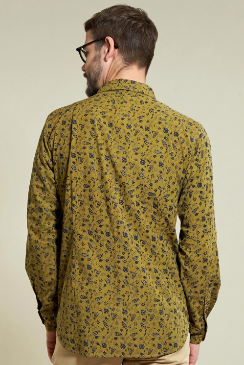 Ochre Floral Long Sleeve Shirt (back)