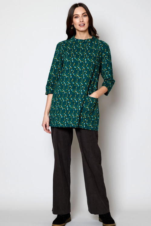 Fern Sustainable Fair Trade Cord Tunic Top
