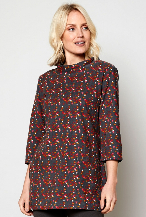 Ethically Made Rock Cord Tunic Top