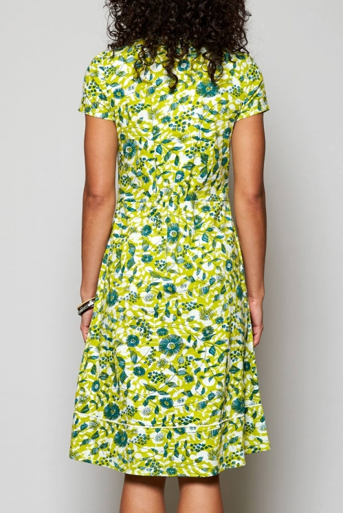 Citrus Green Fair Trade Tresco Organic Cotton Jersey Dress