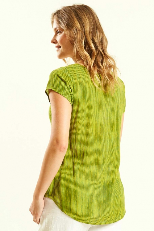 Avocado Seam Detail Top (back)