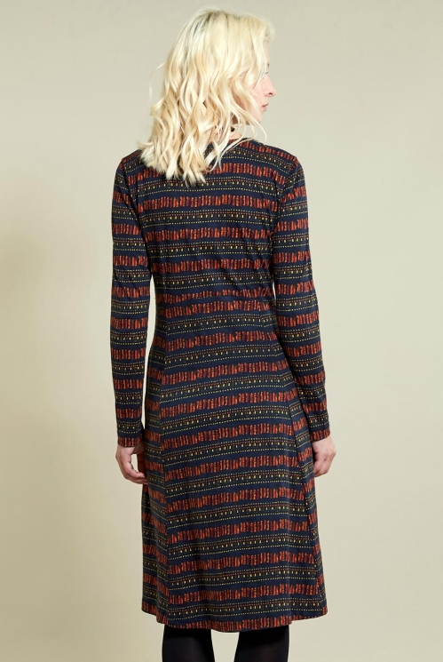 Long Sleeve Dress in Sienna - back view
