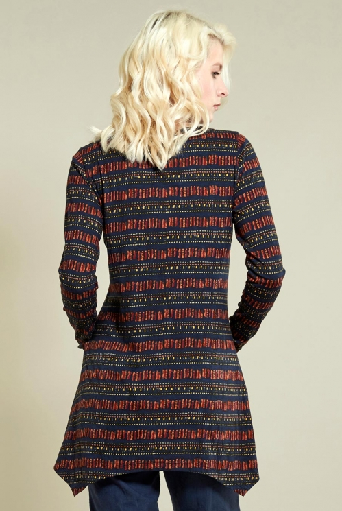 Point Hem Tunic in Sienna - back view