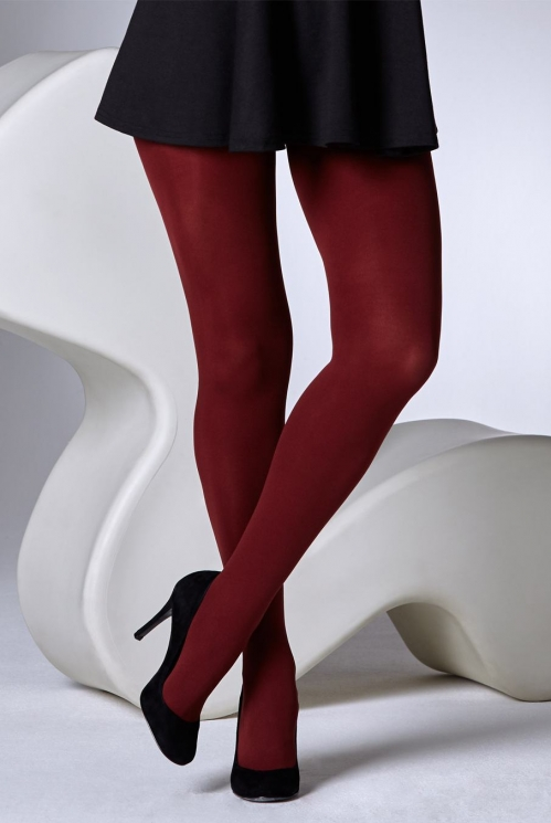 Burgundy 100 Denier Tights