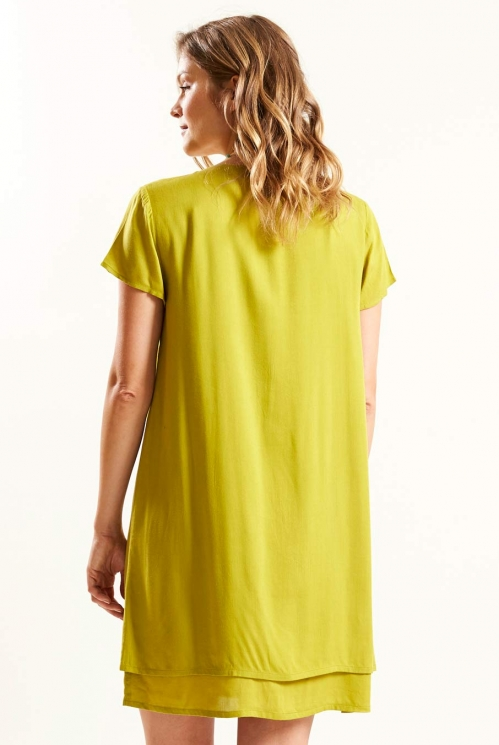 Avocado Layered Tunic Dress