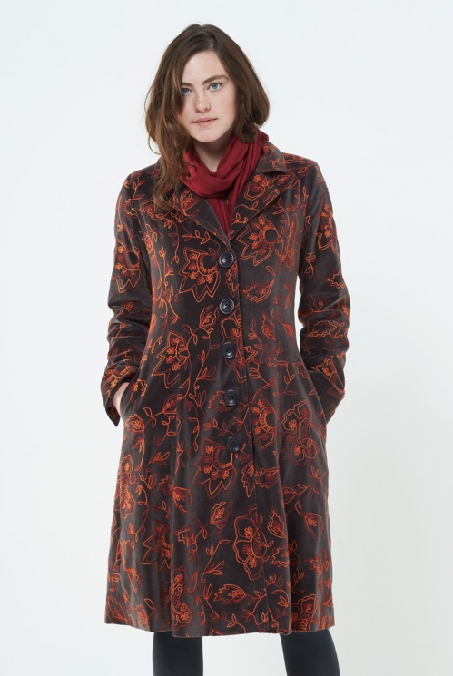 Shark Embroidered Coat