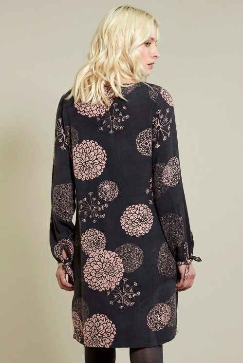 Frost Pink Bloom Tunic Dress