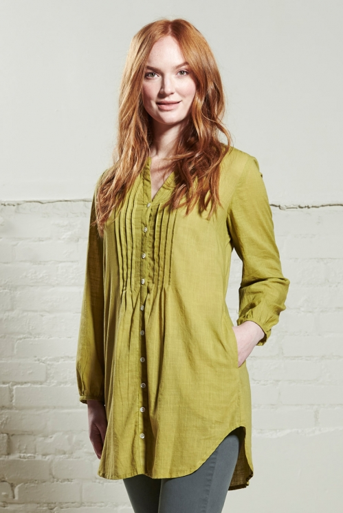 Moss Plain Tunic Shirt